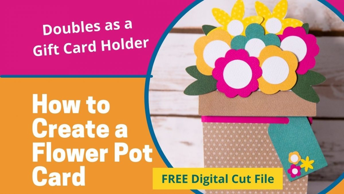 How to create a flower pot gift card holder