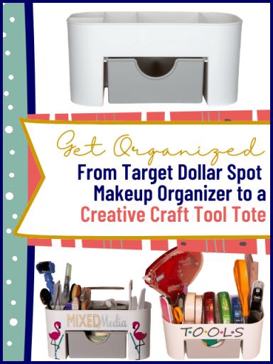 Plain make up organizer, Mixed Media otganizer with tools and Tools organizer with adhesives