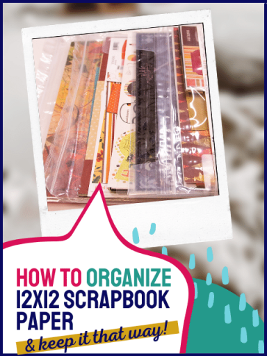 12x12 fall papers sorted in bags