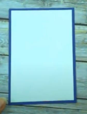 Blue rectangle with smaller white rectangle on top